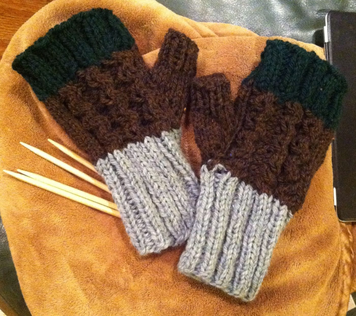Chunky Fingerless Glove Pattern For Men And Women