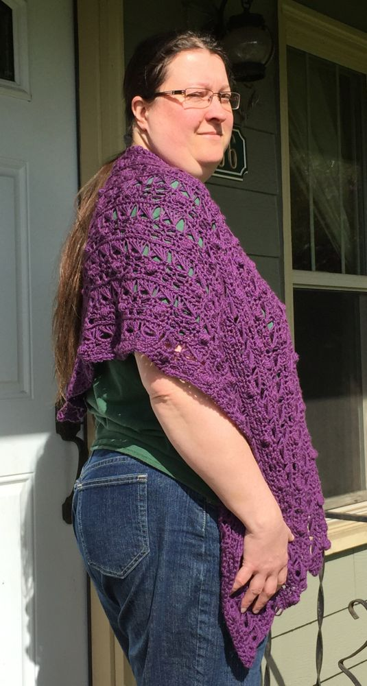 Cashmere Wrap In Purple: Pearl River Lace Wrap By Doris Chan