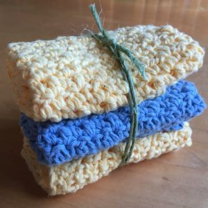 How To Make Crocheted Washcloths Video Available Now!