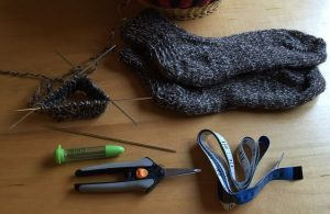 Tools you'll need to knit these socks.