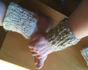 My legwarmers and wristers are rustic and charming in a country, practical way