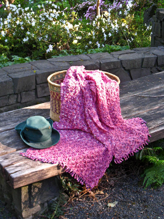 Beaded Pink Stole