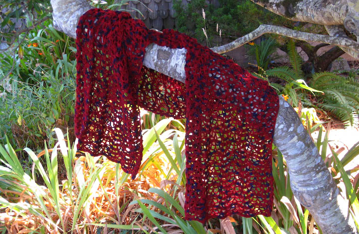 Lacy Red Stole