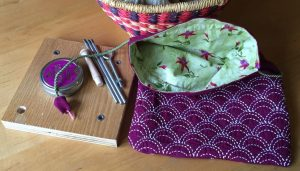 Sashiko Bag for DIY Lazy Kate